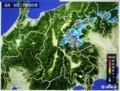 雨雲レーダー画像、佐久地方は大雨に…。(29.6.9)