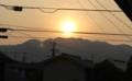 梅雨空に「黄金の日の出」(29.6.24)(5:26)