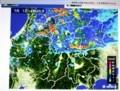 佐久市は小降りになった時の「雨雲レーダー」画像。(29.7.1)
