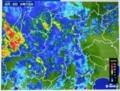 佐久地域に、雨雲がかかり…。(29.8.8)