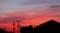 まっ赤な夕焼け雲。(29.8.28)(18:40)