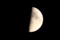 「仲秋九日・上弦」のお月さま。(29.9.28)(18:15)