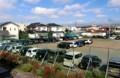 仮設グランドが、臨時駐車場に…。(29.9.30)