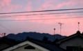 「平尾山・平尾富士」も、朝焼けに包まれて。(29.10.2)(5:41)