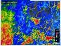 佐久地方が大雨。(雨雲レーダー画像)(29.10.22)(23:15)