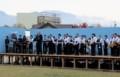臼田中学校の吹奏楽・ステージ。(29.10.28)