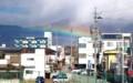 変わった虹が、浅間山麓に…。(29.11.11)(11:24)