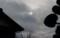 雨雲を透かし、鈍く見えるお日さま。(29.11.30)