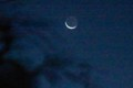 「二十八夜待ち」のお月さま。(29.12.16)(6:11)