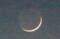 「地球照」もバッチリも三日月さま。(29.12.20)(17:14)