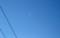 3時間後、朝の白い細いお月さま。(30.1.13)(7:59)