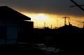 西空に、不気味な雲が現れ…、天気下り坂か…。(30.1.21)