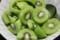 デザートは、家で採れた「キウイフルーツ」。(30.1.22)