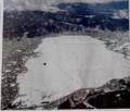 空から見た「諏訪湖」、新聞記事。(30.2.6)
