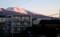 朝日で、うっすら紅色の「浅間山」。((30.2.14)