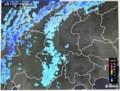 長野県北部に迫る雪雲。(30.2.17)(755)