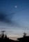 「正月三日」、今年初の三日月さま。(30.2.18)(18:08)