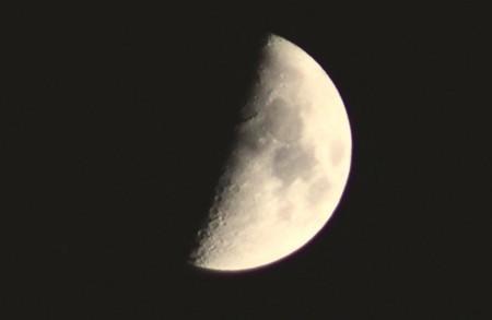 「正月八日」・上弦のお月さま。(30.2.23)