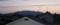 平尾山の山際は、ほんのり赤く染まり。(30.3.15)