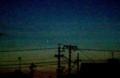 よく晴れて、西空に「金星」と「水星」が…。(30.3.17)(18:30)