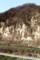 対岸は、「裾花凝灰岩」の山体。(30.3.29)