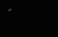 「弥生三月の三日月」と「金星・宵の明星」。(30.4.18)(19:30)