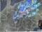 雨雲レーダー画像、佐久市にも赤印…。(30.6.12)
