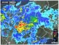 激しい雨、「雨雲レーダー画像」。(30.6.28)