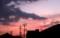 西空には、赤く染まった雲が…。(30.7,22)