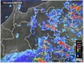 雨雲レーダー画像、時間雨量8.5ミリの大甘が…。(30.7.28)(23:10)