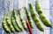 伝統野菜・「徳ちゃん豆」をお浸しに…。(30.8.2)