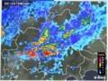 雨雲レーダー画像、佐久市辺りがお雨に。(30.8.16)