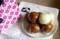 「愛さんさん饅頭」作り。(30.8.18)