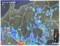 雨雲レーダー画像、佐久市辺りに大雨の表示が。(30.8.23)(15:00)