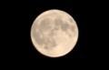 「望」1時間前の「真ん丸お月さま」(30.8.26)(19:50)