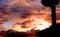 異様な朝焼けは、天気下り坂の予兆か…。(30.9.8)(5:23)