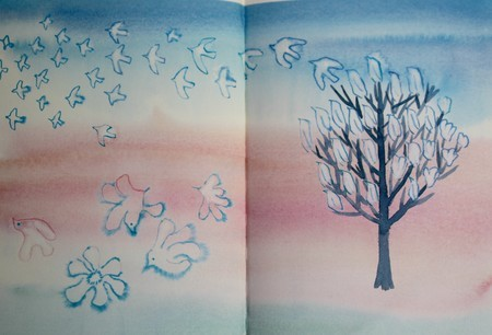 挿絵:「マグノリアの木」(30.9.12)