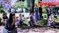 「スプレーアート」実演は、「岩村田公園:で…。(30.9.12)