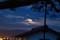 雲間から出たり隠れたりの「中秋の名月。(30.9.24)(18:20)
