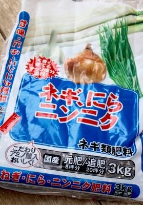 「玉ねぎ」細胞・元肥に施したネギ類用肥料。(30.10.13)