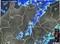 レーダーに、帯状に強い雨雲が…。(30.10.19)(17:40)