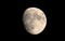 「十三夜」のお月さま。(30.10.21)(17:40)