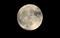 ほぼ真ん丸、「季秋十六日」のお月さま。(30.10.24)817:37)