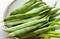 寒さに負けずに結実・収穫した、「つるささげ豆」(30.10.25)