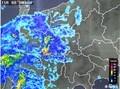 長野県を覆い始めた、雨雲レーダー画像。(30.11.6)(5:20)