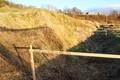 改修工事計画「排水溝」の大土手。(30.11)