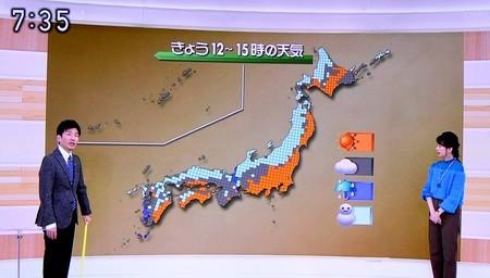 テレビ・気象情報は、日本海側に大雪が…。(30.12.28)