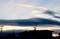 西空には夕焼け雲、日が沈みます。(31.1.10)