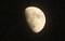 「臘月十一日」の朧月。(31,1.16)(17:41)