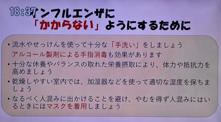 テレビ視聴、「インフルエンザ予防法」(31.1.2&)